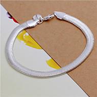 Geometrisk Kæde & Lænkearmbånd - Sølv Slange Mode Armbånd Sølvfarvet Til Bryllup / Fest / Daglig