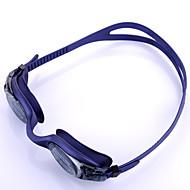 billiga Swim Goggles-Simglasögon Anti-Dimma Justerbar storlek Anti-UV Anti-halk band Vattentät Kiselgel PC Purpur Ljusgrå
