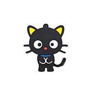 desenhos animados novo gato bonito usb 2.0 memória flash drive 16gb preto