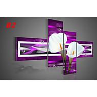 billiga Topp Konstnär-HANDMÅLAD Abstrakt Fyra paneler Kanvas Hang målad oljemålning For Hem-dekoration