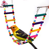 cheap Bird Accessories-FUN OF PETS®Length 80cm Colorful Climbing Ladders with Beads  for Birds