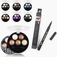 1pcs vodootporni tekući eyeliner olovke&1pcs svijetle stereo 5 boja ubub pečena sjenilo u prahu metalni shimmer