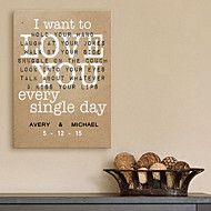 E-HOME® Personalized Signature Canvas Frame-I Want To Love You