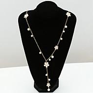 Жен. Кристалл Плавающий Ожерелья с подвесками Y Ожерелье длинное ожерелье Позолота 18К Стразы Искусственный бриллиант Дамы европейский Мода Ожерелье Бижутерия Назначение / Австрийские кристаллы