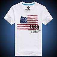 Majica s rukavima Kauzalni Plus veličine Print Kratki rukav Okrugli izrez Pamuk