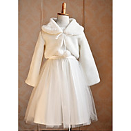 cheap -Long Sleeve Faux Fur Wedding / Party Evening / Casual Kids' Wraps With Shrugs