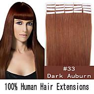 20 inch 50g / set huid tape haar Maleisische human hair extensions 19 kleuren voor vrouwen schoonheid