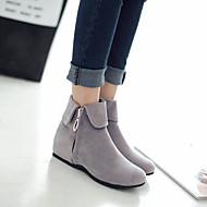 お買い得  特別セール-女性用 靴 フェイクスエード 冬 ウエッジヒール 10.16-15.24 cm / 35.56-40.64 cm / ブーティー/アンクルブーツ グレー / Brown / レッド / パーティー