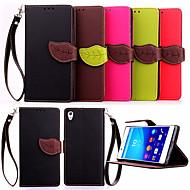 billiga Mobil cases & Skärmskydd-fodral Till Sony Z5 / Sony Xperia Z3 / Sony Xperia Z3 Compact Xperia Z5 / Xperia Z3 / Sony-fodral Plånbok / Korthållare / med stativ Fodral Enfärgad Hårt PU läder för Sony Xperia Z3 / Sony Xperia Z3