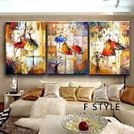 billiga Topp Konstnär-Hang målad oljemålning HANDMÅLAD - Abstrakt Klassisk / Traditionell Endast Målning / Tre paneler