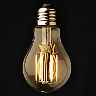 billige Globepærer med LED-3pcs 6 W 2800-3200 lm E26 / E27 LED-globepærer A60(A19) 6 LED perler COB Mulighet for demping Varm hvit 220-240 V / 110-130 V / 3 stk. / RoHs
