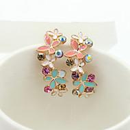 Women's Crystal Drop Earrings 18K Gold Plated Rhinestone Gold Plated Earrings Ladies European Fashion Jewelry For / Imitation Diamond / Austria Crystal
