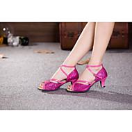 baratos Sapatilhas de Dança-Mulheres Sapatos de Dança Latina / Dança de Salão Glitter Salto Alto / Sandália Interior / Ensaio / Prática / Iniciante Lantejoulas /