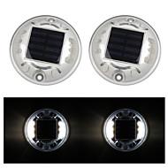 tanie Światła drogi-2szt Lekka dekoracja Na energię słoneczną Akumulator Wodoodporne