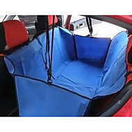 Cat Dog Car Seat Cover Pet Baskets Solid Portable Foldable Black Gray Brown Red Blue For Pets
