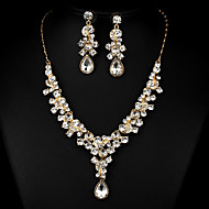 Women's White Cubic Zirconia Jewelry Set Cubic Zirconia Include For Wedding Party Special Occasion Anniversary Engagement