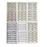 60Pairs Natural Long Thick Black False Eyelash Eyelashes Extensions Handmade Individual Lashes Makeup Eyelashes