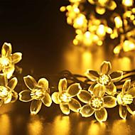 gmy christmas lys blomst form 50led sol lys varm hvid / kold hvid / mix farve