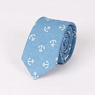 pánské večírky / večerní svatební vytištěné modré kotvy hubená kravata