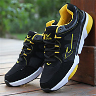 Men's Shoes Leatherette Fleece Fall Comfort Running Shoes for Athletic Black Red Blue Yellow