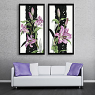 cheap Framed Arts-Botanical Floral/Botanical Leisure Framed Canvas Framed Set Wall Art,PVC Material With Frame For Home Decoration Frame Art Living Room