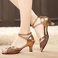 baratos Sapatilhas de Dança-Sapatos de Dança ( Preto/Prateado/Dourado/Outro ) - Mulheres - Não Personalizável - Latim