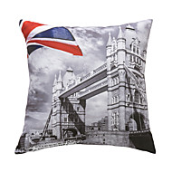 "cheap Pillow Covers-Retro 18"" Square Cities Pillow With Insert"