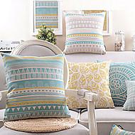taie d'oreiller en coton / lin, style campagnard moderne / contemporain géométrique