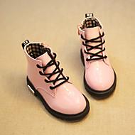 男の子 女の子 ブーツ レザーレット 春 秋 冬 アウトドア ドレスシューズ カジュアル 乗馬靴 編み上げ ローヒール ブラック ピンク イエロー フクシア 1インチ以下