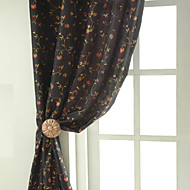 billige Gardiner ogdraperinger-To paneler Window Treatment Rustikk Neoklassisk Designer Soverom Poly/ Bomull Blanding Materiale gardiner gardiner Hjem Dekor For Vindu