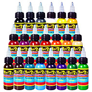 cheap Tattoo Ink-21 × 30 ml Baby Blue Bright Orange Cherry Bomb Dark Chocolate Dark Purple Dark Red Flesh Fuschia Golden Yellow Hard Orange Koolaid Lemon