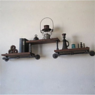 LOFT American Style DIY Book Shelves Retro Water Pipe Racks Wrought Iron Rack Shelf Industrial Pipe Racks Shelves-Z23