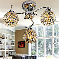 Flush Mount ,  Modern/Contemporary Electroplated Feature for Crystal Metal Bedroom Dining Room Hallway