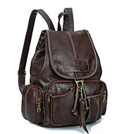 Women Bags PU Backpack Travel Bag for Casual Outdoor All Seasons Gold Black Brown Light Brown