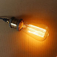 billige Glødelampe-1pc 40W E27 E26 / E27 E26 ST58 2300k 220V 110-130V 220-240V