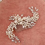 billiga Brudhuvudbonader-Oäkta pärla Bergkristall Hair Combs 1 Bröllop Speciellt Tillfälle Hårbonad