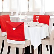 6個/ロットサンタクロースの帽子の椅子は、クリスマスデコレーションキッチンダイニングテーブルの装飾のホームパーティーをカバー