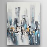 Maalattu Abstrakti Pystysuora,Moderni 1 paneeli Hang-Painted öljymaalaus For Kodinsisustus