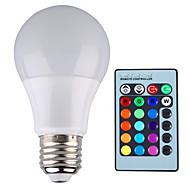 billige Globepærer med LED-YWXLIGHT® 1pc 5 W 500 lm E26 / E27 LED-globepærer A60(A19) 1 LED perler Høyeffekts-LED Mulighet for demping / Fjernstyrt / Dekorativ RGB 85-265 V / 1 stk. / RoHs