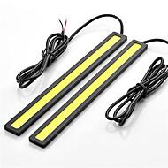 2pcs hry® 14 centímetros 600-700lm luz de circulação diurna branco / azul cor clara cob drl luz à prova d'água (12v)