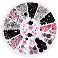 Manicure Diamond Drill Box Imitation White AB 12 Lattice Manicure Acrylic Drill Disc Fashion Nail Art Decorations