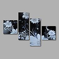 billiga Topp Konstnär-Hang målad oljemålning HANDMÅLAD - Blommig / Botanisk Moderna Inkludera innerram / Sträckt kanfas