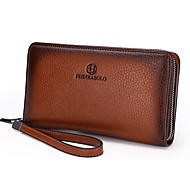 Men Bags All Seasons Cowhide Wallet for Wedding Event/Party Casual Office & Career Brown Blue Khaki