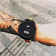 Homens Quartzo Relógio de Pulso Legal / Relógio Casual Couro Banda Fashion Preta