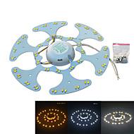 Jiawen 18W 1600lm hvit / varm hvit dobbel lys farge kilde for taklampe / magnetiske spiker (ac170 ~ 265V)