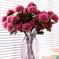 billige Kunstige blomster-3 hode / grenen livaktige krysantemum dekorere kunstig blomst