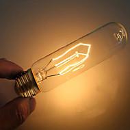 baratos Incandescente-1pç 40 W E26 / E27 T10 Branco Quente 2000 k Decorativa Incandescente Vintage Edison Light Bulb 220-240 V