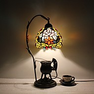 abordables -Lampe de table-Traditionnel/Classique / Rustique/Campagnard / Tiffany-Métal-Tons multiples