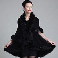 cheap -Sleeveless Faux Fur / Imitation Cashmere Wedding Wedding  Wraps / Fur Coats / Hoods & Ponchos With Feathers / Fur Capes