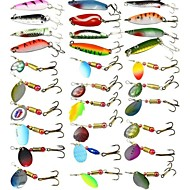 30 pcs ルアー ハードベイト スプーン メタルベイト 硬質プラスチック ファストシンキング 海釣り ベイトキャスティング 鯉釣り / ルアー釣り / 一般的な釣り / 流し釣り / 船釣り